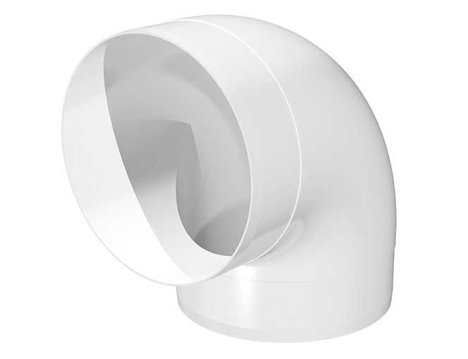 Колено круглое пластик угол 90, D100 (10ККП)