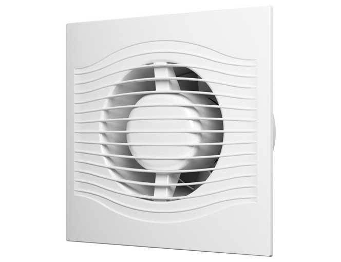 Вентилятор осевой с обратным клапаном D100 (SLIM 4C)