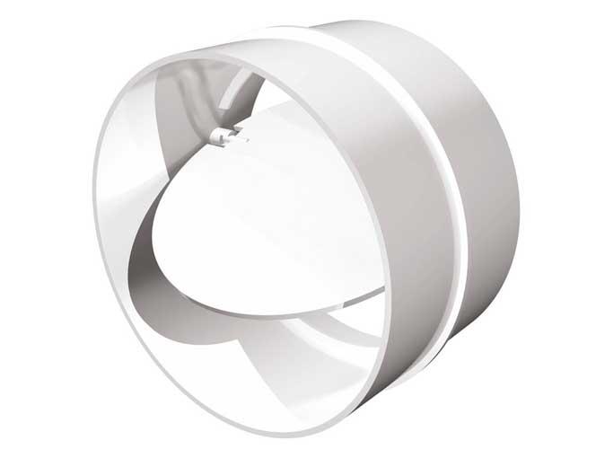 Соединитель каналов круглый с обратным клапаном 12,5 (СКПО)